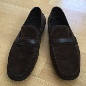 AUTHENTIC Louis Vuitton brown suede driving shoes